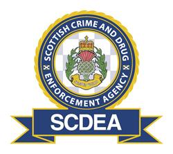 Logo of the Scottish Crime and Drug Enforcement Agency - one of a number of specialist police units in the UK.