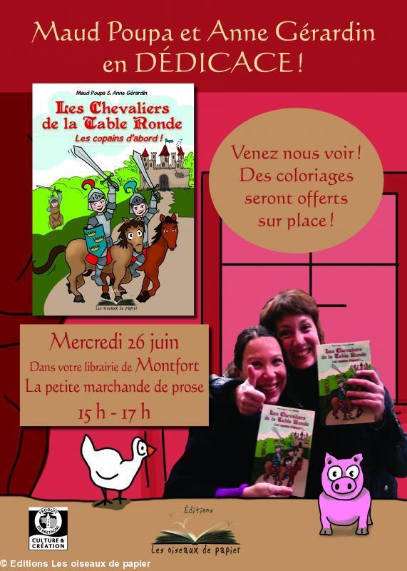 D dicace du livre les chevaliers de la table ronde les copai - Histoire des chevaliers de la table ronde ...
