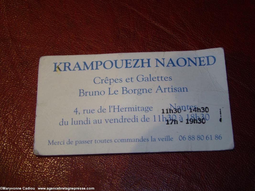 Carte De Visite Krampouezh Naoned