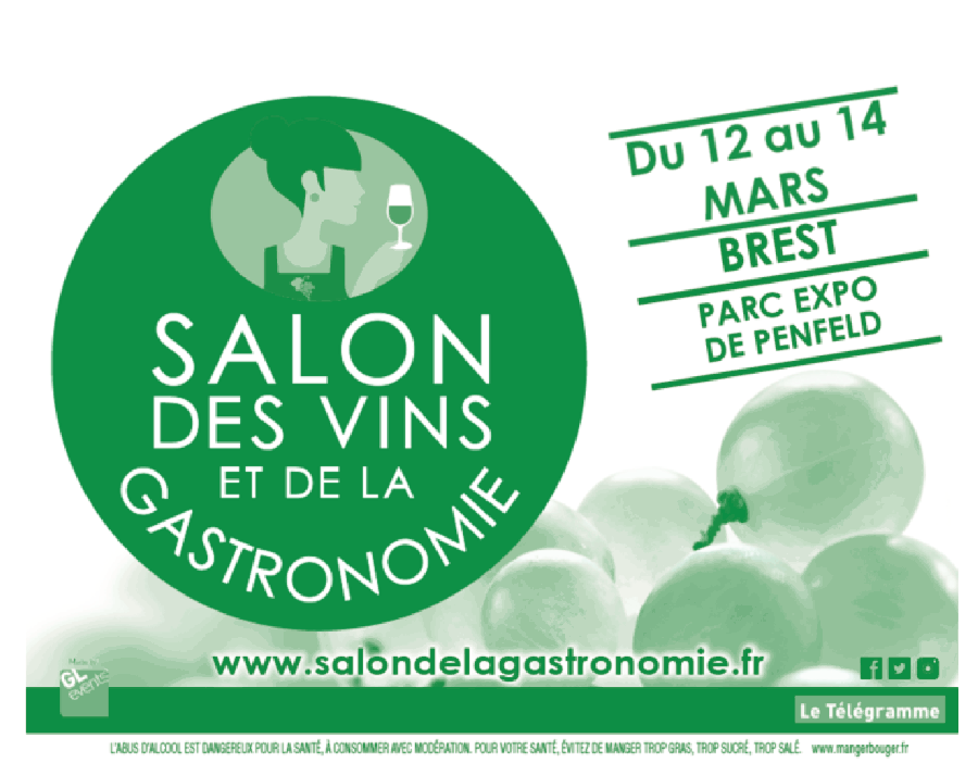 Brest les 12 13 et 14 mars 2016 salon des vins et de la for Salon gastronomie nantes