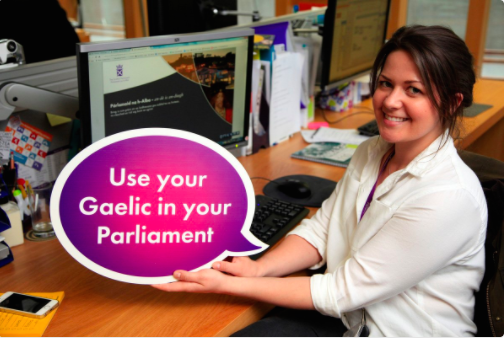 use your gaelic in your Parliament