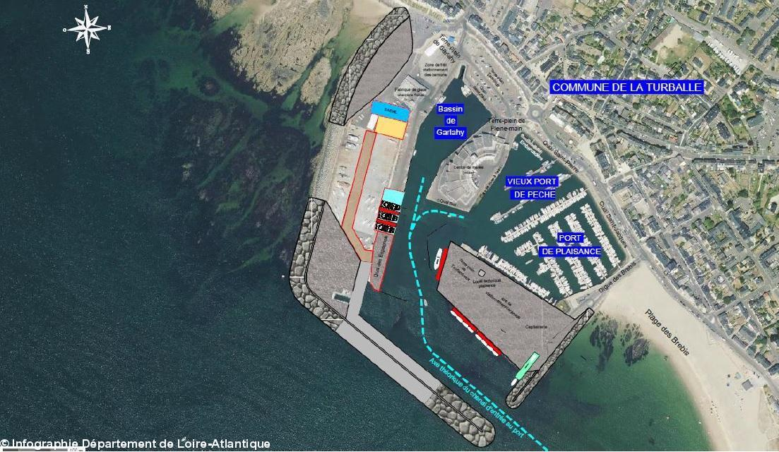 Port de la turballe un chantier de 43 m en trois phases - Trois matelots du port de brest paroles ...