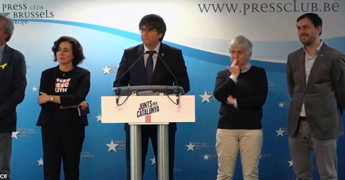 Carles Puigdemont annonce sa candidature (photo youtube)