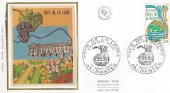 Enveloppe premier jour des Pays de Loire (1975) : le château de Chenonceau sur la vignette. 24 24600_1.jpg