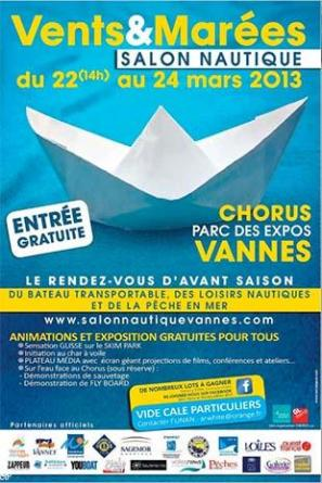 Salon nautique 2013 vents et mar es vannes du 22 au 24 ma for Salon nautique nantes