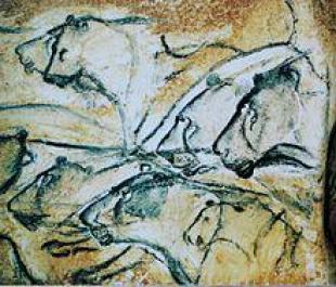 Lions peints de la grotte Chauvet. Date12 juin 2009SourceOwn work (own photo) AuthorHTO 41 41524_2.jpg