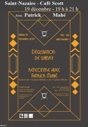 Affiche de la rencontre-dégustation-dédicaces avec Patrick Mahé à Saint-Nazaire le 19 décembre 2017. 43 43866_1.jpg