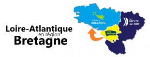 Loire-Atlantique en région Bretagne