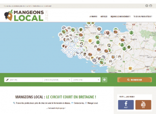 Le site Internet Mangeons-Local.bzh