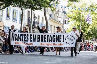 Bretagne Réunie, lors de la grande parade des Nations Celtes de 2017
