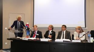 Laurent Chambaud, directeur de l'Ehesp, Denis Olagnon, Jean-Luc Chenut, Christophe Jan, Corinne Hallez,, directrice CAF 35