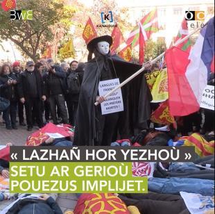 Manifestation du 30 novembre à Paris Pour que Vivent Nos Langues.