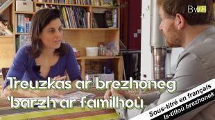 La transmission de la langue bretonne dans les familles.