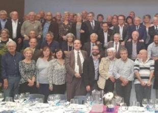 Photo de pauvre qualité mais montrant le maire de Prades avec d'autres maires catalans lors d'un meeting de soutien aux prisonniers politiques catalans en Espagne.
