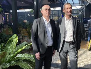 Loïc Hénaff, Président, et Malo Bouëssel du Bourg, Directeur de PEB.