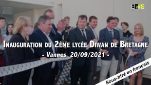 Inauguration du deuxième lycée Diwan de Bretagne